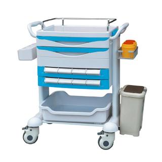 Medicine cart plastic nursing trolley