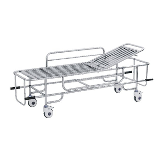 E-035 Stainless steel emergency ambulance stretcher