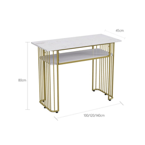 Cheap Factory Modern customized Wholesale Beauty Nail Glass Table